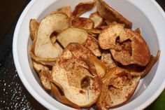 Baked Apple Chips Recipe--- great on the go snack :)