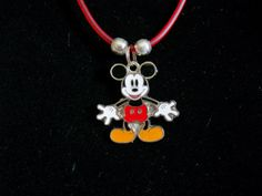 Mickey Mouse 18 inch Necklace by JudysEtsyStore on Etsy, $5.95...Etsy.com
