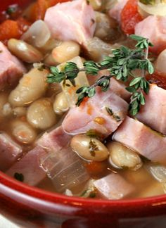 Smoked Ham Soup with White Beans
