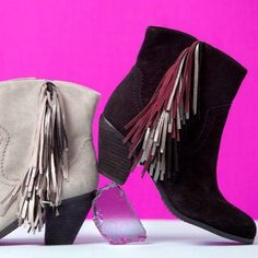 Multi color fringe booties by Sam Edelman