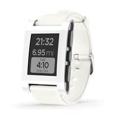 #Smartwatch Pebble Original Blanco.   http://www.opirata.com/es/smartwatch-pebble-original-blanco-p-36496.html