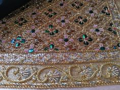 Beaded Embroidery, Hand Embroidery, Queen Sirikit, Pakistani Bridal Dresses, Gold Work, Clothes Line, Stylish Girl, Bridal Collection, Blouse Designs