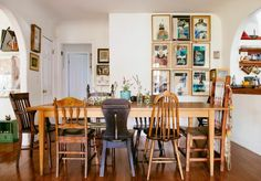 Awesome Bohemian Dining Room Design And Decor Ideas 05 Woven Dining Chairs, Mismatched Dining Chairs, Dining Room Chairs, Table And Chairs, Dining Table, Eclectic Dining Chairs, Side Chairs, Wood Chairs, Office Chairs