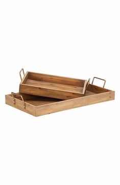 Magnolia Home Wooden Breakfast Trays (Set of 2)