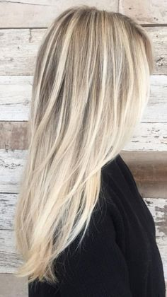 Long Blonde Hair Colors - Best Hair Color to Cover Gray at Home Check more at http://frenzyhairstudio.com/long-blonde-hair-colors/