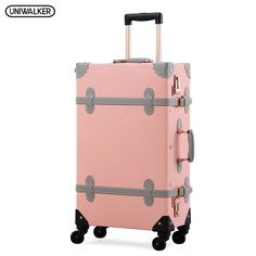 Countries of World Soccer Carry-On Hardcase Luggage Spinner Pink