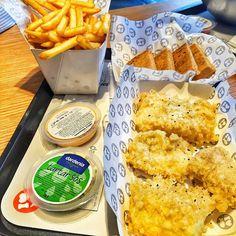 Fish And Chips - Dardenia / İstanbul ( Maslak, Buyaka AVM, Mecidiyeköy, Göktürk ) Fiyat : 21:90 TL (İngilizlerin yaptığı gibi gerçek kod balığı kullanılıyor. Yanında patates tartar sos ve spicys sos veriliyor)