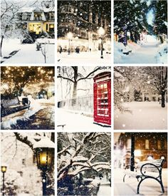 Winter. London. Snow.