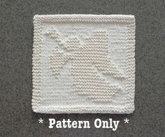 CHRISTMAS ANGEL Knitted Dishcloth Pattern by AuntSusansCloset