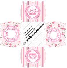 Forminhas Docinhos Flor Coroa de Princesa Rosa Floral
