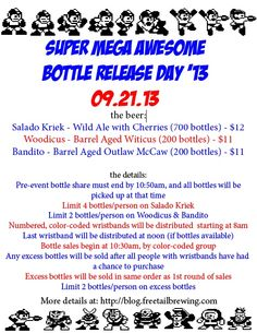 Super Mega Awesome Bottle Release '13 at Freetail Brewing Saturday, Sept. 21