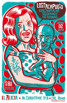 Gig posters, flyers and handbills from around the world! Art And Illustration, Illustrations, Flyer Inspiration, Graffiti, Art Populaire, Kunst Poster, Expositions, Creative Posters, Band Posters