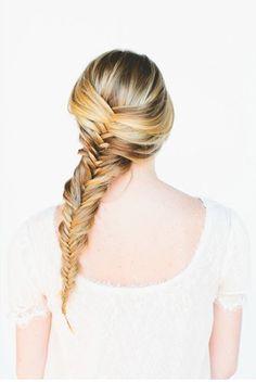 diy hairstyles wedding hairs hair style fishtail braids wedding ...