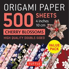 Inspired by Savannah: Give the Gift of Origami This Holiday Season Thanks to Beautiful Paper Sheets and Step-by-Steps Books from Tuttle Publishing (Review) Origami Sheets, Origami Paper, Cherry Blossom Origami, Cherry Blossoms, Ancient Symbols Of Power, Origami Artist, Origami Models, Modular Origami, Paper Birds