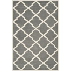 @Overstock - Safavieh Handmade Moroccan Chatham Dark Grey/ Ivory Wool Rug (8'9 x 12') - Safavieh's Chatham collection is inspired by timeless contemporary designs crafted with the softest wool available.  http://www.overstock.com/Home-Garden/Safavieh-Handmade-Moroccan-Chatham-Dark-Grey-Ivory-Wool-Rug-89-x-12/8348801/product.html?CID=214117 $422.44