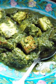 Palak Paneer - Indian Spinach with Cheese. So good!