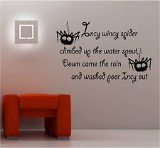 Incy Wincy Nursery Rhyme Vinyl Wall Art Sticker Kids