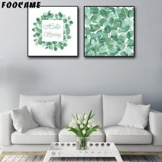 Watercolor Leaves Leaf Green Plants Posters and Print Art Canvas Painting Home Decoration Wall Pictures For Living Room Canvas Art Prints, Canvas Wall Art, Cute Bedding, Nordic Art, Watercolor Leaves, Living Room Pictures, Sports Art, Diy Canvas, Art Wall Kids