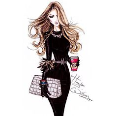 Glamorous Fashion Sketches and Illustrations Best 50 ❤ liked on Polyvore featuring drawings and sketch