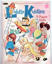 Vintage Whitman/Mattel LIDDLE KIDDLES paper dolls 1967 cut NICE!