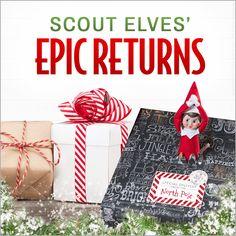 8 Epic Scout Elf Returns | Elf Return Ideas | Elf Welcome Ideas | Scout Elf Return Week | Elf on the Shelf Ideas