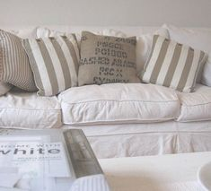 using neutral colors in decorating, and a touch of burlap