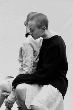 Looking For U - Teeth Online x Teeth Magazine  Photographer: Natalie McKain Stylist: Brigitte Hill Makeup: Hope O'Connor Models: Arabella Cooke and Leaf Leora  On Leaf (left): Dress: Pageant, Leather Choker: Love in Leather. On Arabella (right): Dress and Top (worn over dress): Matin Studio.
