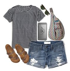 """""""Exact outfit for my birthday next Tuesday!"""" by legitimately-kierstin ❤ liked on Polyvore featuring Kavu, J.Crew, Abercrombie & Fitch and Birkenstock"""