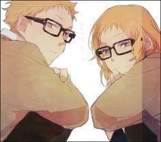 Tsukishima and his Genderbent Counterpart