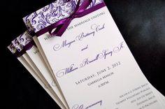 Skinny Wedding Programs by JaxDesigns27 on Etsy, $2.00