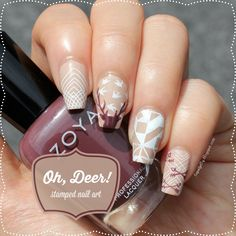 Liquid Jelly: [Nail Art] Oh, Deer!: Stamped with MoYou London Hipster Plates