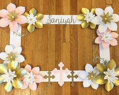 First Communion - Baptism - Pink and Gold - Christening - Selfie Frame - Communion - Party Decor - Decorations