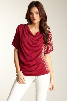 Bask Atelier Draped Neckline Top. If only these buttons worked!