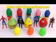 Play-Doh Surprise Eggs   Marvel Avengers Superheroes   Toys Videos for K...