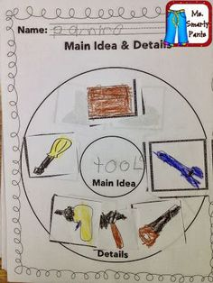 Week 3- main idea and key detail  This is a great strategy to teach main idea and key details.