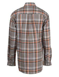 orange mens plaid shirts | Cinch Men's Grey/Orange Plaid Long Sleeve Western Shirt (MTW1104165 ...