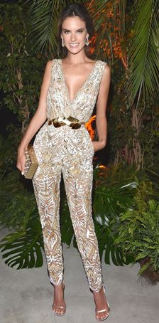 Alessandra Ambrosio - jumpsuit from S/S 2014 Couture - 2014 Cannes Festival