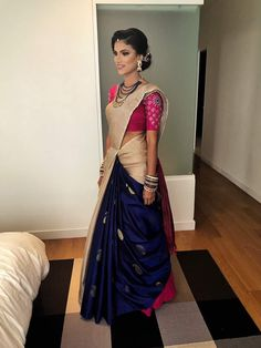Borderless cancan saree