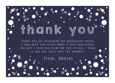 Say thank you to everyone that came to your graduation party! Available in multiple colors! #Graduation #Party #ThankYou | Customizable with your own images & details | CatPrint Design #385