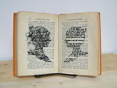 Lauren DiCioccio  A Passionate Rebel  2009 Cross-stitch into found book