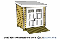 My Shed Plans - Shed Plans - lean to shed plans front Now You Can Build ANY Shed In A Weekend Even If Youve Zero Woodworking Experience! - Now You Can Build ANY Shed In A Weekend Even If You've Zero Woodworking Experience! 8x8 Shed, Shed House Plans, Shed Plans 12x16, Lean To Shed Plans, Run In Shed, Free Shed Plans, Bed Plans, Floor Plans, Storage Shed Kits