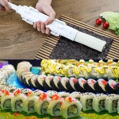 GIFT-FEED: Sushi Maker Sushi Bazooka Gun Makes Perfect Sushi Rolls Every Time | Gift-Feed | Gift For Chefs Sushi Kit, Diy Sushi, Sushi Maker, Cooking Sushi, Gourmet Cooking, All You Need Is, How To Make Sushi, Sushi Rolls