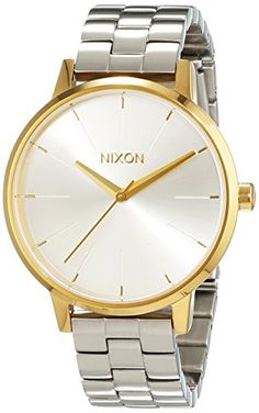 Nixon Womens Kensington A0992062 Silver StainlessSteel Quartz Watch >>> Read more reviews of the product by visiting the link on the image.Note:It is affiliate link to Amazon.
