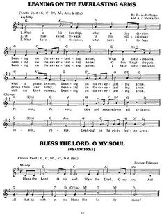 Leaning on the Everlasting Arms. Will be including this on my next CD - Wonderful Hymns for Little Ears.