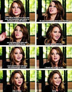 """""""Not now, Bill!"""" - Jennifer Lawrence is the best."""