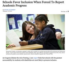 Accountability translates to productivity! http://www.disabilityscoop.com/2015/02/13/schools-inclusion-report/20060/