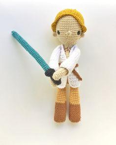 Luke Skywalker Patrón de Ganchillo