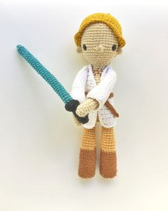 Luke Skywalker Patrón de Ganchillo por LosSospechosos en Etsy