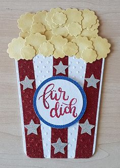 Popcorn Karte (Tutorial on Blog)