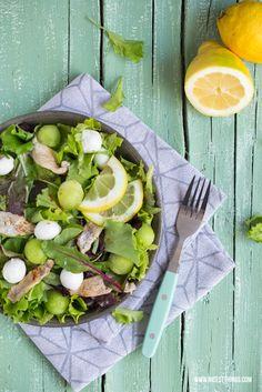 Salad with Melon, Mozzarella, Anchovies / Boquerones